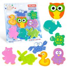 Набор игрушек для ванной мини-коврики VALIANT МАКСИМИКС ДРУЗЬЯ СОВЫ 8 шт VAL MIX8S2