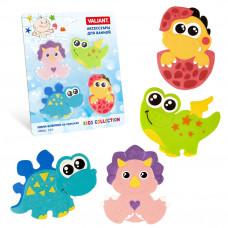 Набор игрушек для ванной мини-коврики VALIANT ДИНОЗАВРИКИ 4 шт VAL MIX4S9