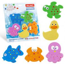 Набор игрушек для ванной мини-коврики VALIANT МИКС 5 шт VAL MIX5S1